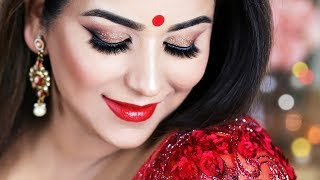 Pahela Baishakh (পহেলা বৈশাখ) Makeup Tutorial l Bangla New Year 2018
