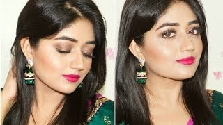Indian Festive Makeup : Fuchsia Lips Tutorial   corallista