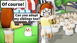 """Asking Roblox mom """"Can you adopt my siblings?"""" Then bringing 100+ PEOPLE"""