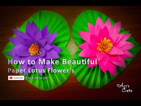 Xxx Mp4 How To Make Beautiful Paper Lotus Flower At Home Art's Crafts Paperflower ForKids Easycraft 3gp Sex