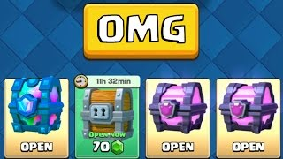AWESOME ''CHEST OPENING'' :: Clash Royale :: LEGENDARY CHEST AND MAGICAL CHESTS!