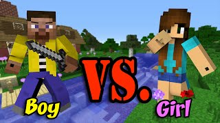 Girl Vs. Boy - Minecraft