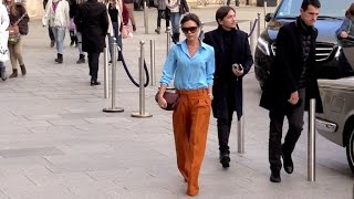 EXCLUSIVE : A very busy day for Victoria Beckham in Paris
