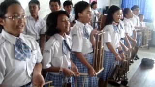 Angklung SDK St Maria 3-kelas 6, Malang, Jawa Timur, Indonesia (2)