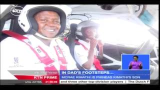 Mcrae Kimathi son to legendary rally driver Phineas Kimathi aims to follow in his father's footsteps