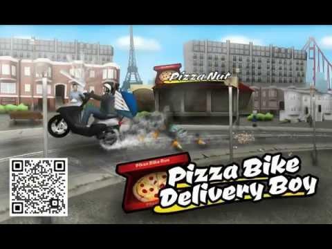 Pizza Bike Delivery Boy - LiquidFun Version