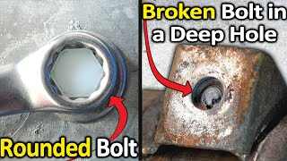 How to Remove Rounded or Broken Bolts Fast and Easy ( The Top 5 ways )