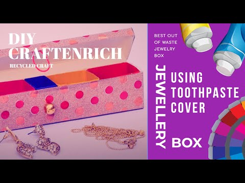 Xxx Mp4 Best Out Of Waste Jewelry Box Using Toothpaste Cover Recycled Craft DIY Jewelry Box 3gp Sex