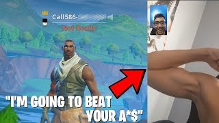 I FACETIMED Kids after I killed them in Fortnite... (SALTY lol)