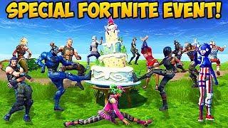 100 Players Celebrate Fortnite