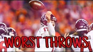 Worst Throws of the 2016-2017 NFL Season