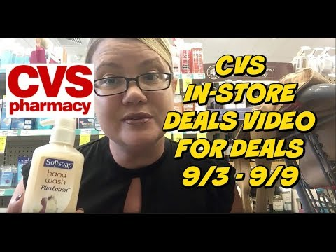 CVS IN-STORE COUPONING DEALS FOR 9/3 - 9/9