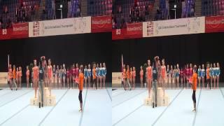 Korte impressie wedstrijddag 1 International Ascention Gymnastics tournament in 3D