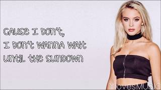 Zara Larsson ft. Wizkid - Sundown (Lyrics)