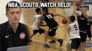 LiAngelo Ball GOES OFF In SCRIMMAGE w/NBA Scouts WATCHING! PRE DRAFT COMBINE!