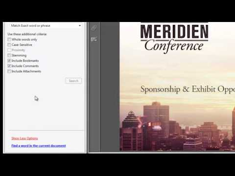 Saving Search Results in Acrobat X