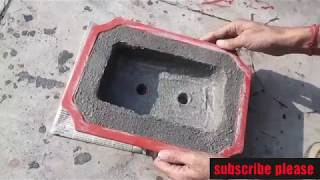 how to make bonsai pot at home. how to make cement pot.