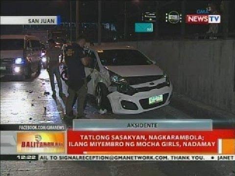 BT Tatlong sasakyan nagkarambola; Ilang miyembro ng Mocha Girls nadamay
