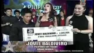 Jovit Baldivino Wins Pilipinas Got Talent 1st Ever Grand Winner Champion 1/2