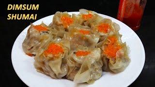 Cara membuat Siomay Dim Sum isi Jamur Shiitake, Ayam dan Udang