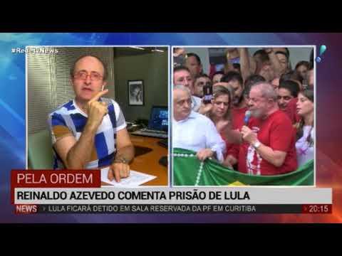 """""""Lula está sendo vítima de um processo de exceção"""", decreta Reinaldo Azevedo"""