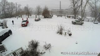 Timelapse of snow causing traffic problems near downtown Raleigh, NC - 02/12/2014