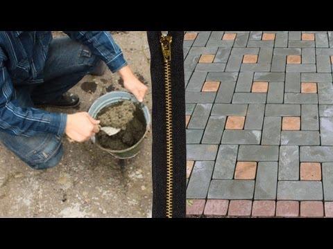 Тротуарной плитка своими руками видео в домашних
