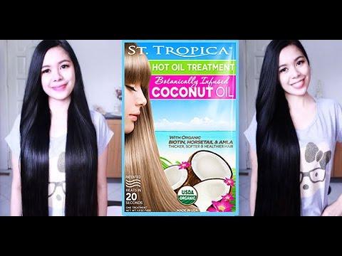 Long Healthy Hair Secrets- Organic Coconut Hot Oil Treatment Demo-Beautyklove