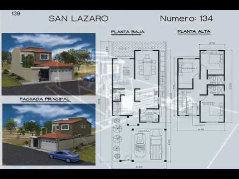 Planos de Casas Modelo San Lazaro 134 Arquimex Planos de Casas