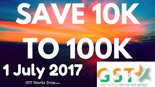 Everything About GST | Save 10000 to 100000 INR Monthly | 1 July 2017