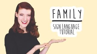 Family - Sign Language Tutorial (BSL)