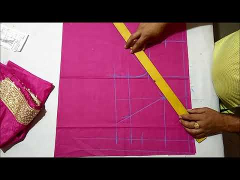 Perfect blouse cutting in Hindi with Easy method
