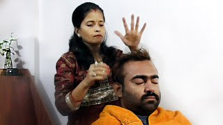 Indian Girl Head Massage ASMR - Indian wife
