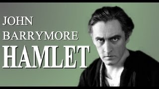 HAMLET with John Barrymore, legendary theater, silent movie, and talking picture star
