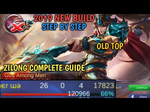ZILONG 2019 BUILD STEP BY STEP COMPLETE GUIDE MOBILE LEGENDS