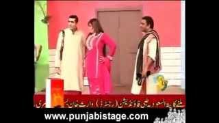 Zafri khan & Anjuman Shehzadi  funny Punjabi Stage Clip