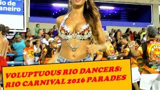 MODEL DANCE PERFORMANCE AT BRAZILIAN CARNIVAL PARADE: PERFECT CURVY BODY