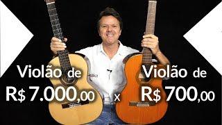 🔥 Violão de R$ 7.000,00  x  Violão de R$ 700,00