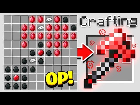HOW TO CRAFT A 10 000 AXE OVERPOWERED Minecraft 1.13 Crafting Recipe