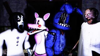 How To Make SLENDRINA GRANNY NOT SCARY #5 FEAT MANGLE & WITHERED BONNIE IN FNAF 3