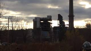 Demolition of Mount Tom power plant