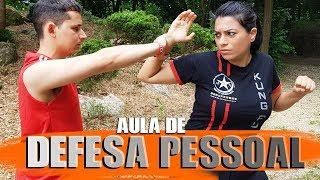 DEFESA PESSOAL NA RUA uma pessoa mais forte te segura ✔ Defesa Pessoal Feminina Kung Fu Fight