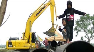 SEE EXCAVATOR WORKING | SONG FOR KIDS BABY SHARK DANCE