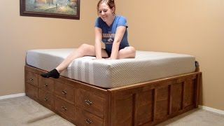 How to Build a Queen Size Bed With Drawer Storage