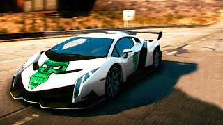 Need For Speed Rivals Gameplay With Lamborghini Veneno [NFS]