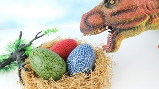 T Rex Try to Steal Dinosaur Eggs! 4D PUZZLE DINOSAUR SURPRISE TOYS! Dinosaur Toys for Kids. 공룡 알 부화