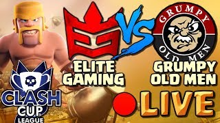 🔴 Clash of Clans LIVE! Elite Gaming VS Grumpy Old Men - CLASH CUP WEEK 2!