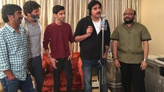 Pawan Kalyan Sings a Song For Agnyaathavaasi Photos