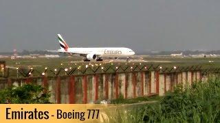 Amazing U Turn - Emirates Boeing 777 Taking Off From Trivandrum International Airport (Full HD)