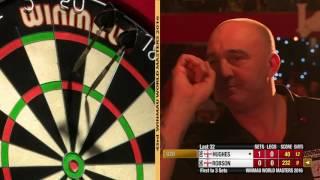 Darts World Masters 2016 Last 32 Robson vs Hughes